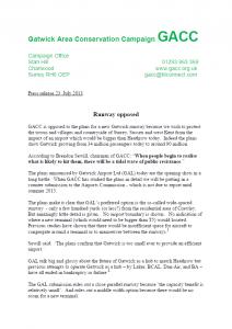 GACC Press Release 2013