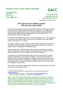GACC Airport Costs Press Release 10-03-14