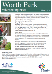 Worth Park Volunteering News 21-03-2014