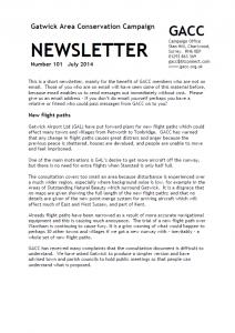 GACC Newsletter 101