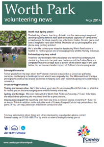 Worth Park Volunteering News 03-06-2014