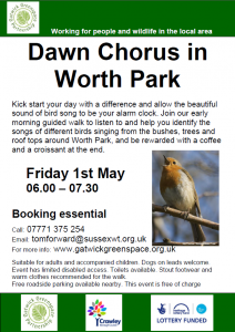 Dawn Chorus Worth Park 2015