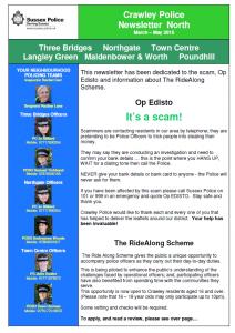 Police Newsletter 16-04-2015
