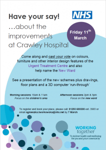 Crawley UTC 11 March Event poster