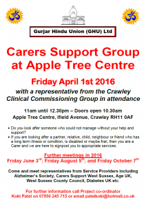 Carers Support Group ATC April 1st