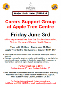 Carers Support Group ATC June 3rd