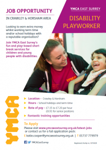 Disability playworker - crawley and horsham area