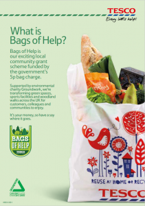 Tesco Bags of help flyer