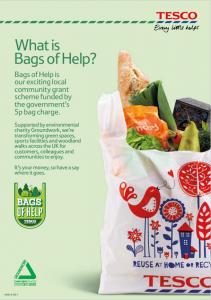 Tesco Bags of help flyer