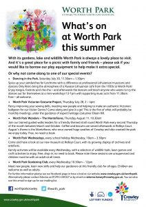 Whats on at Worth Park - Summer 2016