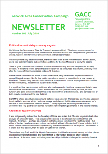 GACC Newsletter July 2016