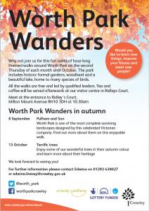 WPG Worth Park Wanders 2016