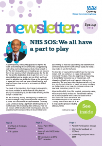 crawley clinical commissioning group newsletter pound hill north residents association. Black Bedroom Furniture Sets. Home Design Ideas